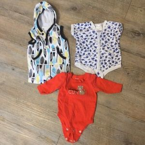 2/$20 Group of 3 onesies 0-3 months one price